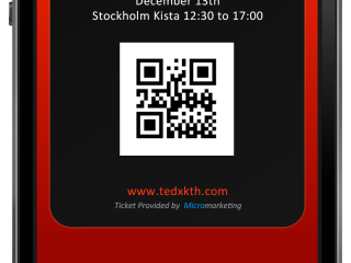 TEDx ticket and mobile HTML implementation by Jonas Lundman