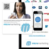 Digital business cards and presentations using QR codes by Jonas Lundman
